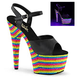 ADORE-709RBS Sexy Sandals Features Pleaser Shoes with Neon Beads - Miss Hollywood - 2