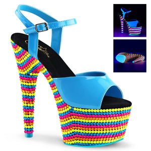 ADORE-709RBS Sexy Neon Sandals Features Pleaser Shoes with Neon Beads - Miss Hollywood - 2