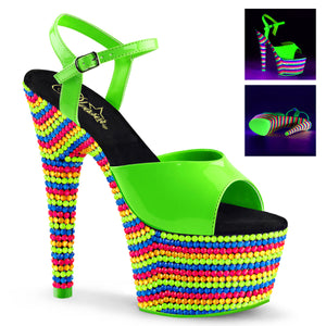 ADORE-709RBS Sexy Neon Sandals Features Pleaser Shoes with Neon Beads - Miss Hollywood - 3