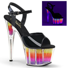 Load image into Gallery viewer, ADORE-709SRS 7 Inch Heel Black Neon Multi Pole Dancing Shoes