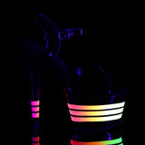 ADORE-709UVLN Sexy UV Neon Pole Dancing Lined Platform High Heel Shoes