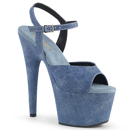 ADORE-709WR Pleaser 7 Inch Heel Denim Strippers Shoes