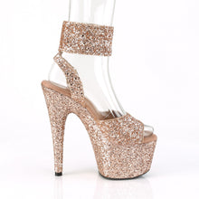 Load image into Gallery viewer, ADORE-791LG 7 Inch Heel Rose Gold Glitter Pole Dancing Shoes