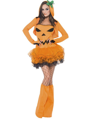 SM45397 Sexy Pumpkin Tutu Dress Costume - Miss Hollywood
