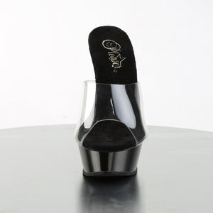 "ALLURE-601 5.5"" Heel Clear and Black Pole Dancing Shoes-Pleaser- Sexy Shoes Alternative Footwear"