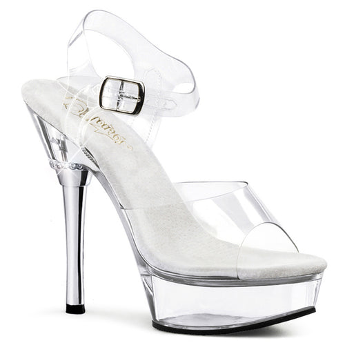 ALLURE-608 Pleaser 5.5 Inch Heel Clear Pole Dancer Shoes