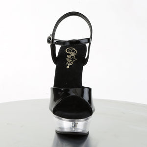 "ALLURE-609 5.5"" Heel Black and Clear Pole Dancer Shoes"