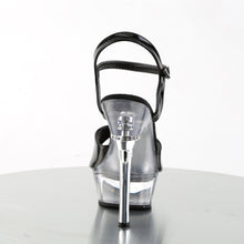 "Load image into Gallery viewer, ALLURE-609 5.5"" Heel Black and Clear Pole Dancer Shoes"