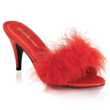 Load image into Gallery viewer, AMOUR-03 Fabulicious Sexy Shoes 3 Inch Classic Marabou Slipper Fluffy Mules - Sexy Shoes - 3