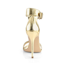 "Load image into Gallery viewer, AMUSE-10 Pleaser Sexy 5"" Heel Gold Mat. Pu Fetish Footwear"