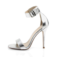 Load image into Gallery viewer, AMUSE-10 Pleaser Sexy 5 Inch Heel Silver Fetish Footwear
