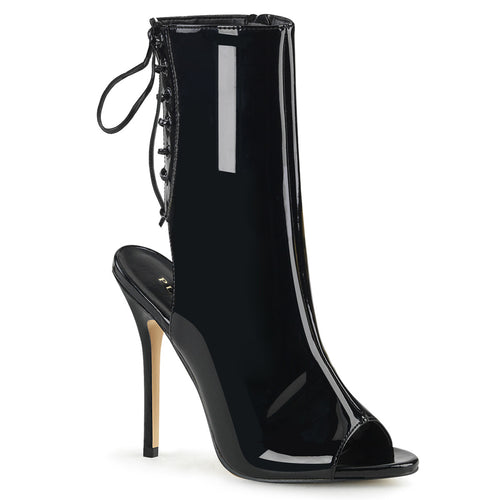 AMUSE-1018 Pleaser Fetish Style Kinky Ankle Boots-Pleaser-Miss Hollywood Sexy Shoes