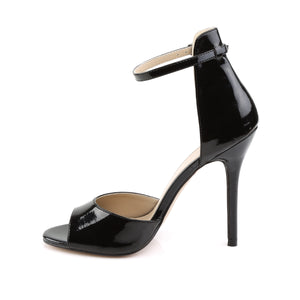 "AMUSE-14 Pleaser Sexy 5"" Heel Black Patent Fetish Footwear"