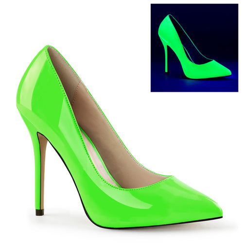 AMUSE-20 Pleaser Sexy 5 Inch Heel Neon Green Fetish Footwear