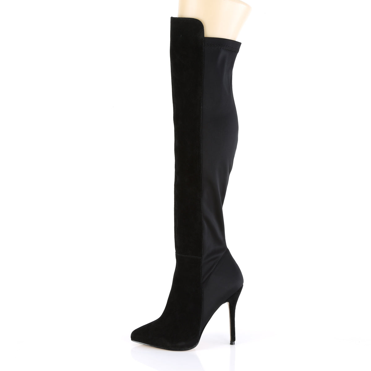 2ec7788ee93 AMUSE-2018 Pleaser Sexy Shoes 5 Inch Heel Platform Pull-On Over-The-Knee  High Boots