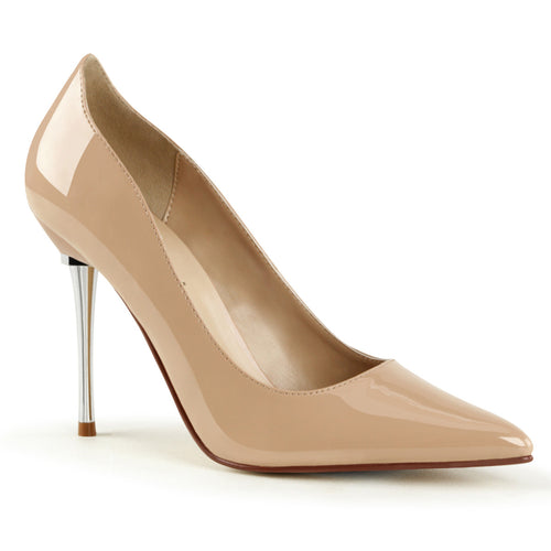APPEAL-20 Sexy Shoes 4 Inch Heel Metal Stiletto Heel Pointed Shoes Pumps
