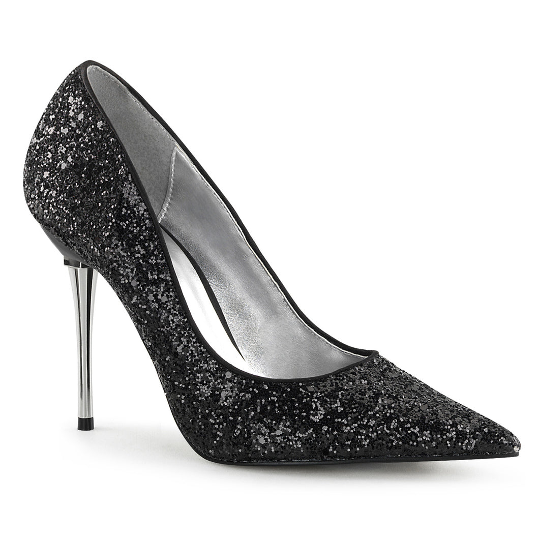 APPEAL-20G Pleaser Sexy Shoes 4 Inch Heel Metal Stiletto Heel Pointed Glitter Shoes Pumps - Sexy Shoes - 1