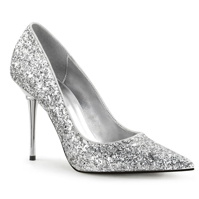 APPEAL-20G Pleaser Sexy Shoes 4 Inch Heel Metal Stiletto Heel Pointed Glitter Shoes Pumps - Sexy Shoes - 5