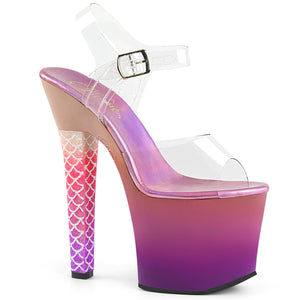 ARIEL-708OMBRE Pleaser 7 Inch Ombre Platform Ankle Strap Mermaid Style Sandals Pleaser Sandals