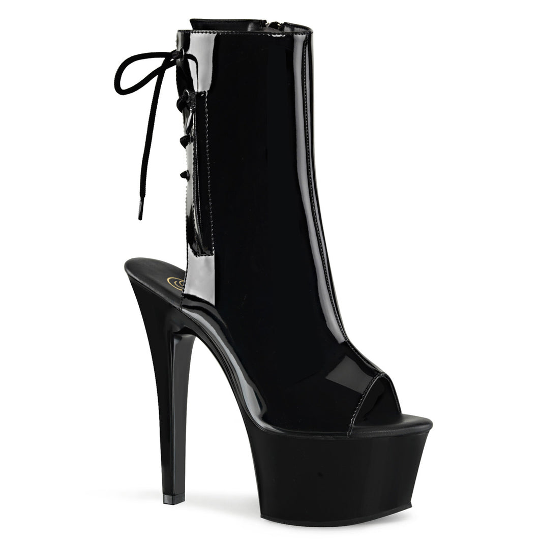 ASPIRE-1018 Sexy Ankle Boots with Peep Toes - Pleaser Shoes UK Supplier