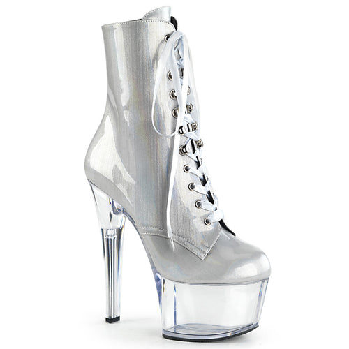 ASPIRE-1020BHG Pleasers 6 Inch Heel Silver Sexy Ankle Boots