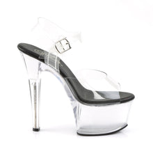 "Load image into Gallery viewer, ASPIRE-608 Sexy 6"" Heel Clear and Black Pole Dancing Shoes"