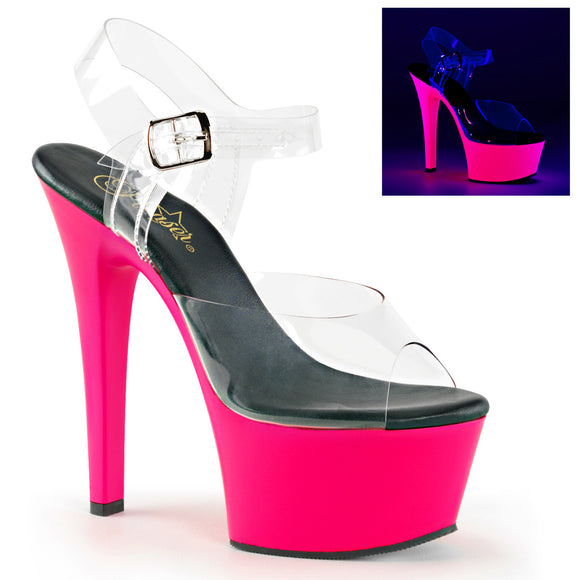 ASPIRE-608UV Sexy Neon Uv Pole Dancing Shoes - Miss Hollywood - 1