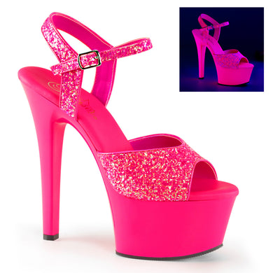 ASPIRE-609G Sexy Pole Dancing Shoes with Glitter - Pleaser Shoes UK Supplier