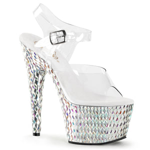 BEJEWELED-708DS Pleaser Sexy Shoes 7 Inch Heel Bling Ankle Strap Sandals - Miss Hollywood
