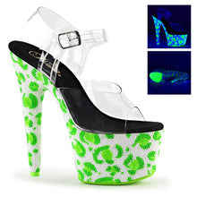 Load image into Gallery viewer, BEJEWELED-708UVLP Pleaser Shoes UV Leopard Rhinestone High Heels - Sexy Shoes - 1