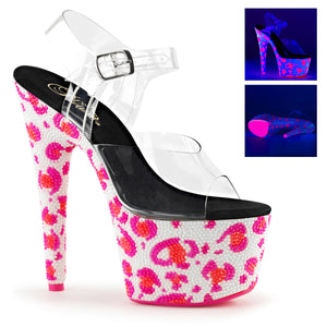 BEJEWELED-708UVLP Pleaser Shoes UV Leopard Rhinestone High Heels - Sexy Shoes - 2
