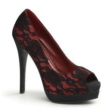 Load image into Gallery viewer, Pin Up Couture   BELLA-16 Pin Up Couture Sexy 5 1/4 Inch Heel Peep Toe Stiletto Shoes Pumps  - Sexy Shoes