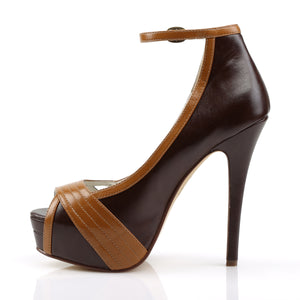 BELLA-31 Pin Up Couture 5 Inch Heel D. Brown Platforms