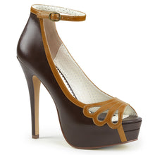 Load image into Gallery viewer, BELLA-31 Pin Up Couture 5 Inch Heel D. Brown Platforms