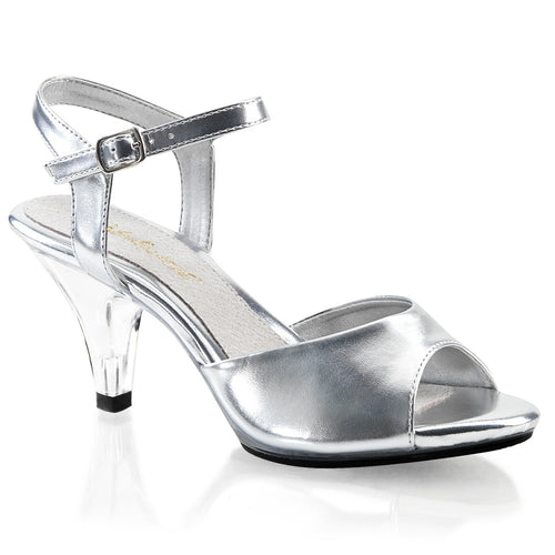 BELLE-309 Fabulicious Sexy Silver Sandals 3 Inch Heel Ankle Strap Sandals silver-Shoes-Fabulicious-Heels for men-Miss Hollywood Sexy Shoes