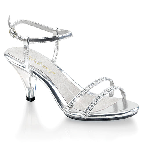 BELLE-316 Fabulicious 3 Inch Heel Silver Sexy Shoes