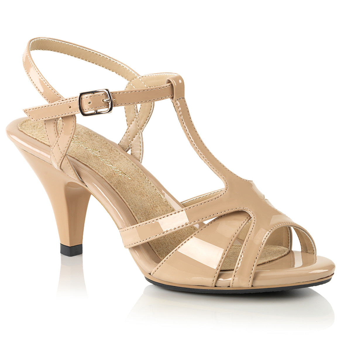 e8cd734e701 BELLE-322 Fabulicious Sexy Shoes 3 Inch Heel Ankle Strap T Strap ...