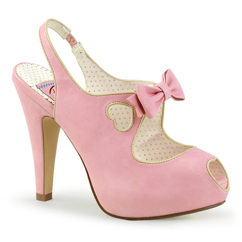 BETTIE-03 Pin Up Couture Sexy 4 1/2 Inch Heel Peep Toe Sling Back Sandals with Bow Detail