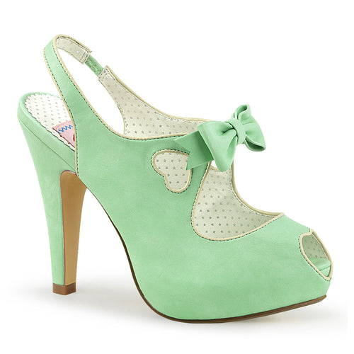 BETTIE-03 Pin Up 4.5 Inch Heel Mint Retro Glamour Platforms-Pin Up Couture- Sexy Shoes