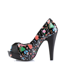 "Load image into Gallery viewer, BETTIE-13 Sexy Retro Glamour 4.5"" Heel Black Platforms Shoes"