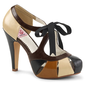 "BETTIE-19 Pin Up Glamour 4.5"" Heel Black Retro Glamour Shoes"