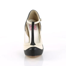 "Load image into Gallery viewer, BETTIE-29 Sexy Retro Glamour 4.5"" Heel Black-Cream Platforms"