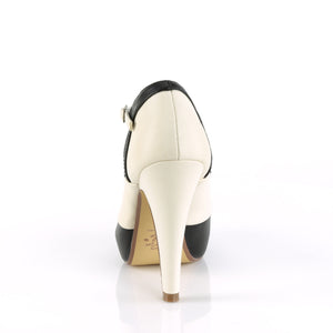 "BETTIE-29 Sexy Retro Glamour 4.5"" Heel Black-Cream Platforms"