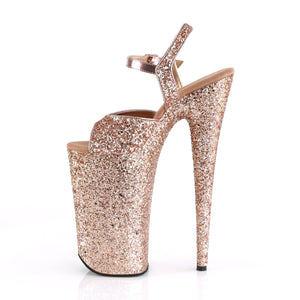 "BEYOND-010LG Sexy 10"" Heel Rose Gold Glitter Strippers Shoes"