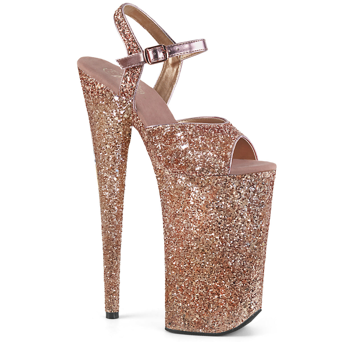 Heel Rose Gold Glitter Strippers Shoes