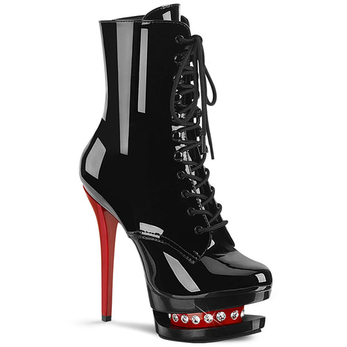 BLONDIE-R-1020 Sexy 6 Inch Black Patent Pole Dancer Platform