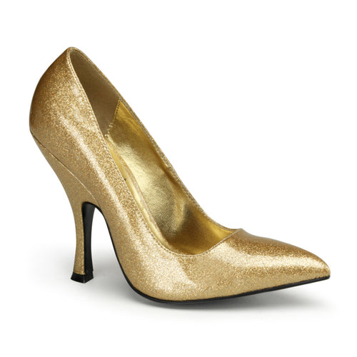 BOMBSHELL-01G Gold Pin Up Couture Sale Sexy 4 1/2 Inch Stiletto Heel Shoes
