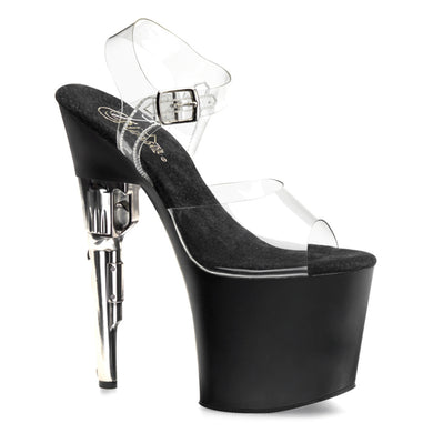 BONDGIRL-708 Pleaser Sexy Shoes 7 1/2 Inch Heel Ankle Strap Platform Sandals