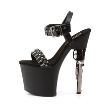 Load image into Gallery viewer, BONDGIRL-712 7 1/2 Inch Revolver Heel Ankle Strap Sandals with Bullet