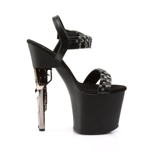BONDGIRL-712 Pleaser Sexy Shoes 7 1/2 Inch Revolver Heel Ankle Strap Sandals for Stripping